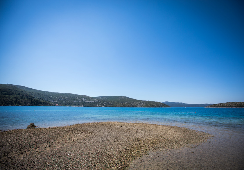 slano gravel beach