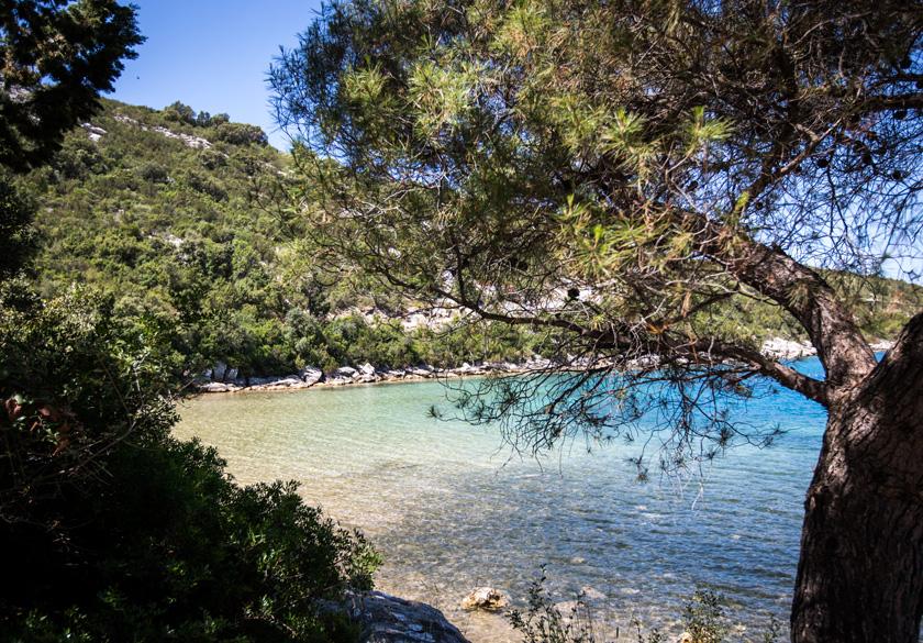 plaža u mjestu Slano, Dubrovnik