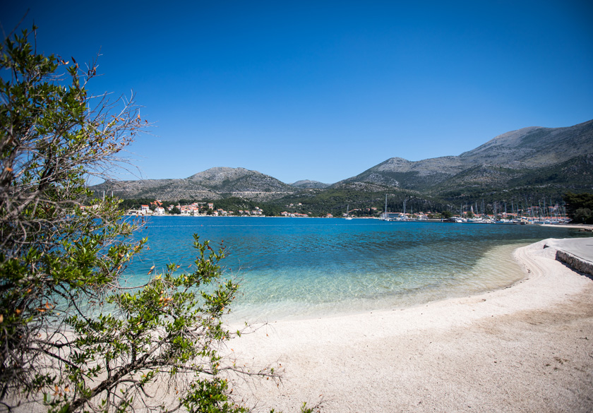 mjesto Slano pješćana plaža